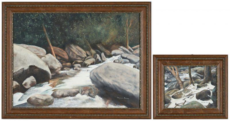 Lot 991: 2 Alexander Dumas Great Smoky Mountains, TN Paintings