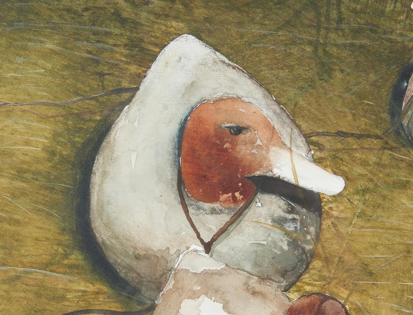 Lot 992: John Ashley Watercolor Painting, Out of Season