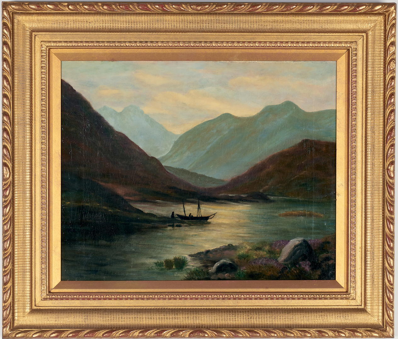 Lot 997: Painting of Lakes, possibly Richard Whately West