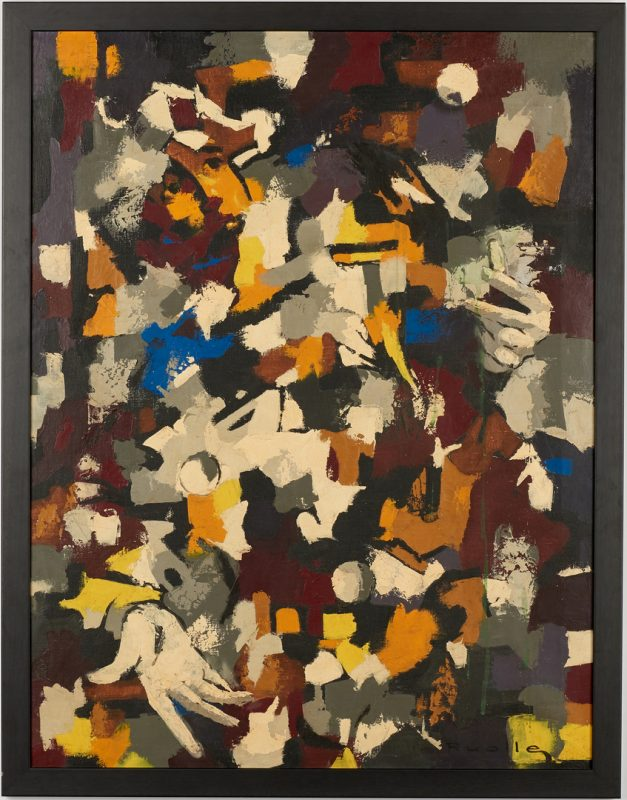 Lot 999: Lucien Ruolle o/c abstract painting