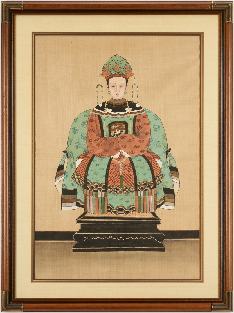 Lot 1006: Pair of Chinese Ancestral Portraits