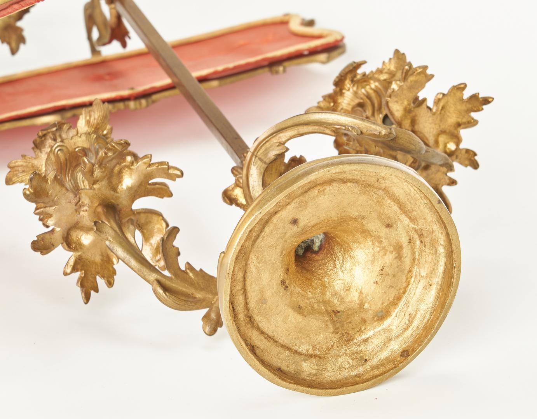 Lot 100: 3 Gilt Bronze Candelabra