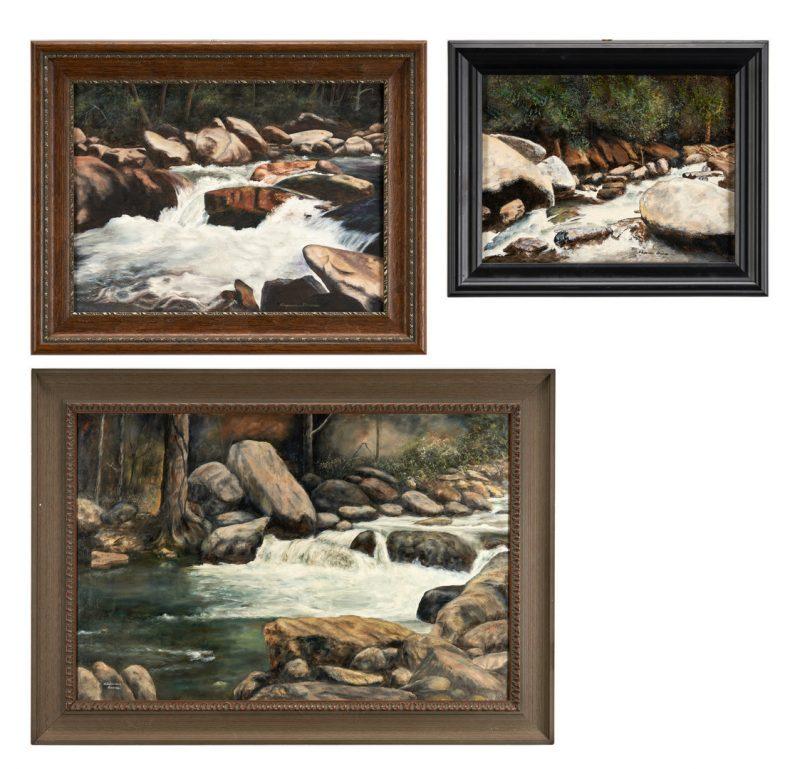 Lot 1012: 3 Alexander Dumas O/C, Great Smoky Mountain River Scenes