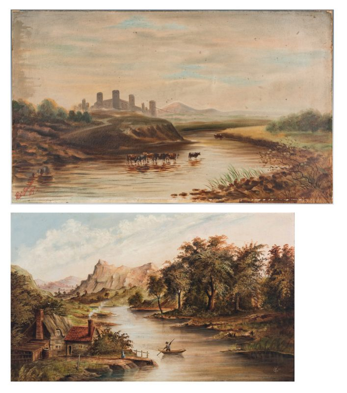 Lot 1014: 2 19th C. Landscape Paintings inc. Robert Smith