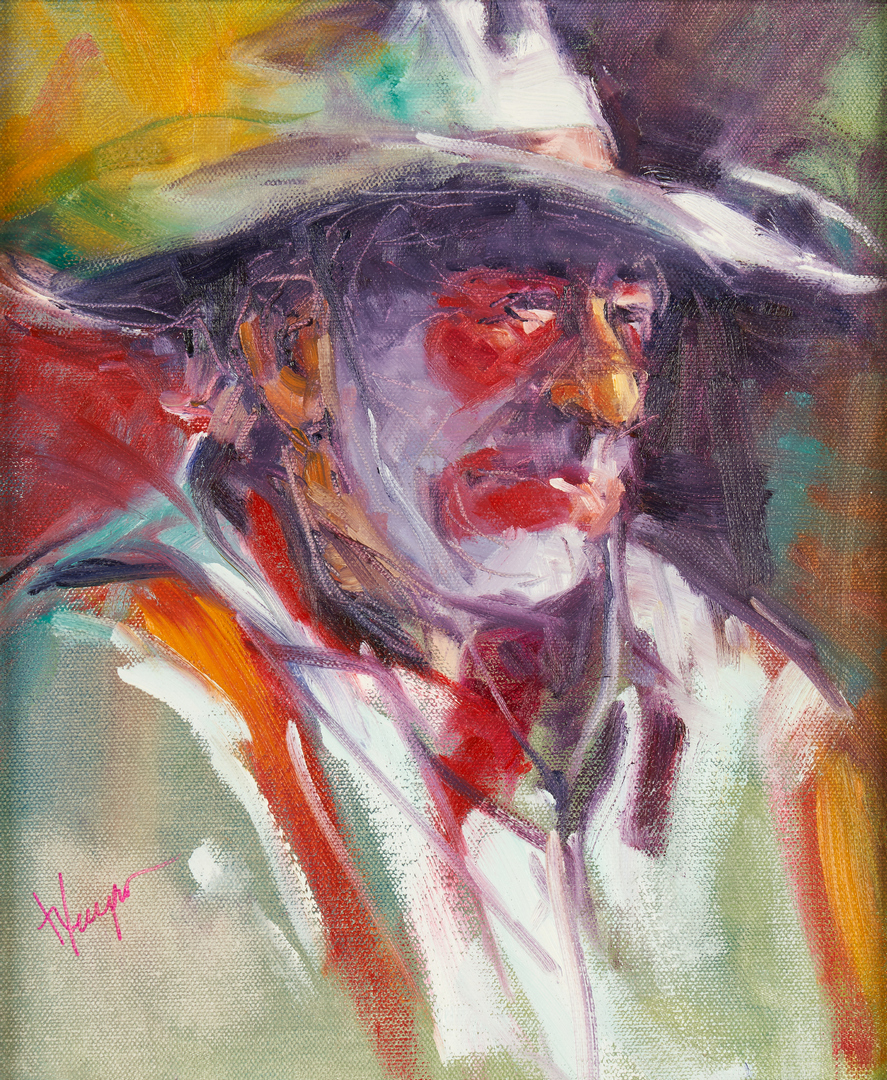 Lot 1016: Shirle Wempner Norquist O/C, Rodeo Cowboy