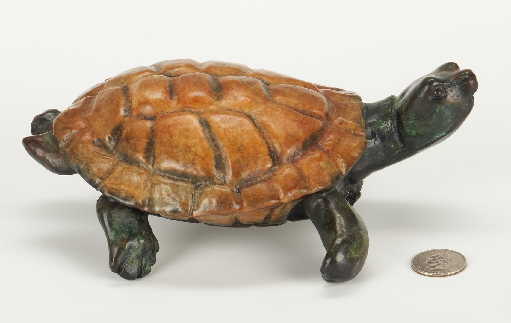 Lot 1019: Robert Ball Bronze Sculpture of a Turtle