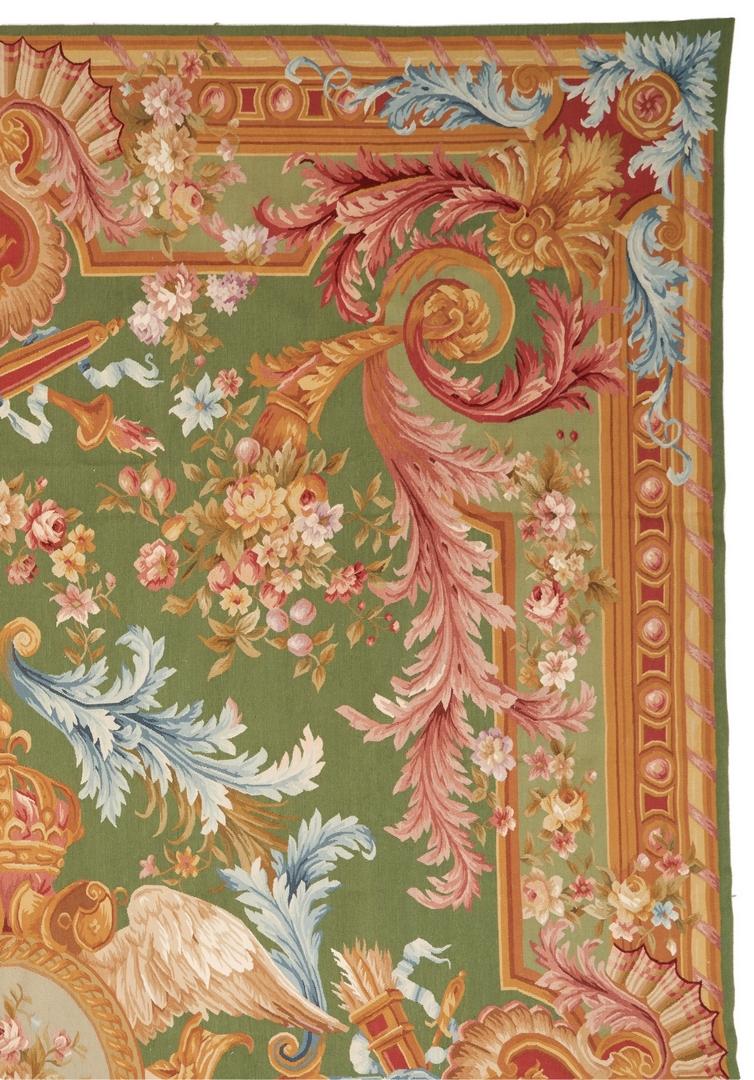 Lot 1021: Aubusson Style Needlepoint Carpet, 14' x 10'