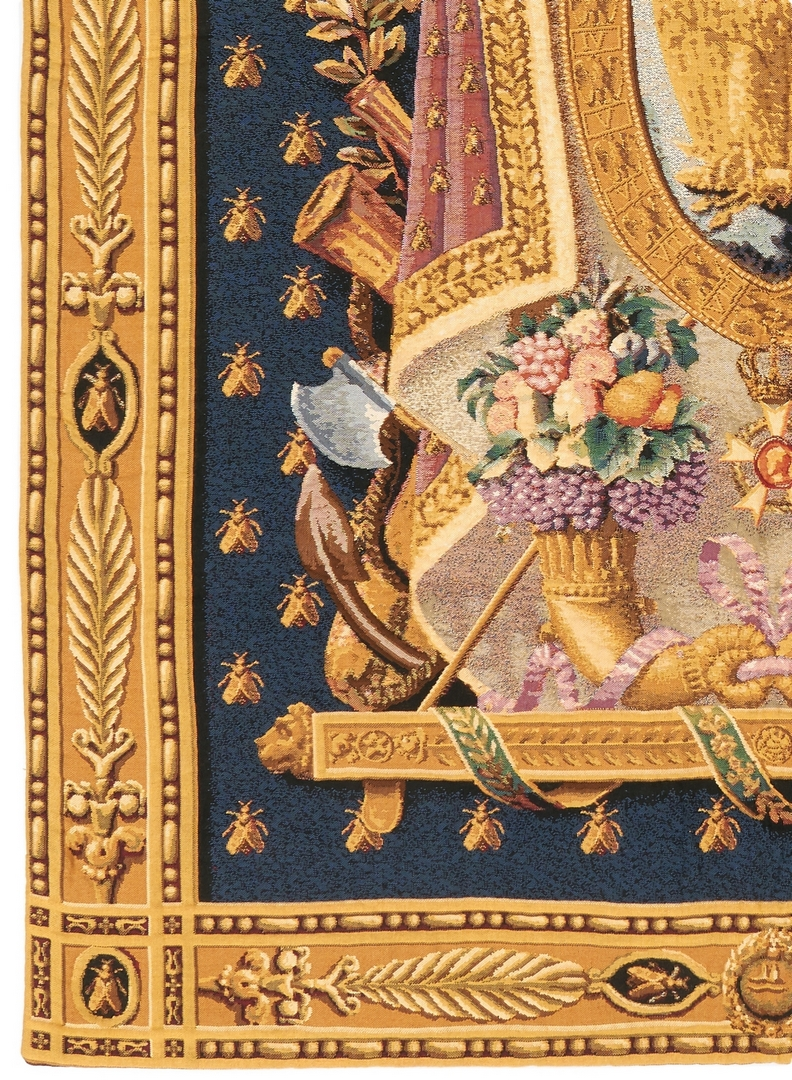 Lot 1022: Napoleonic Coat of Arms Tapestry