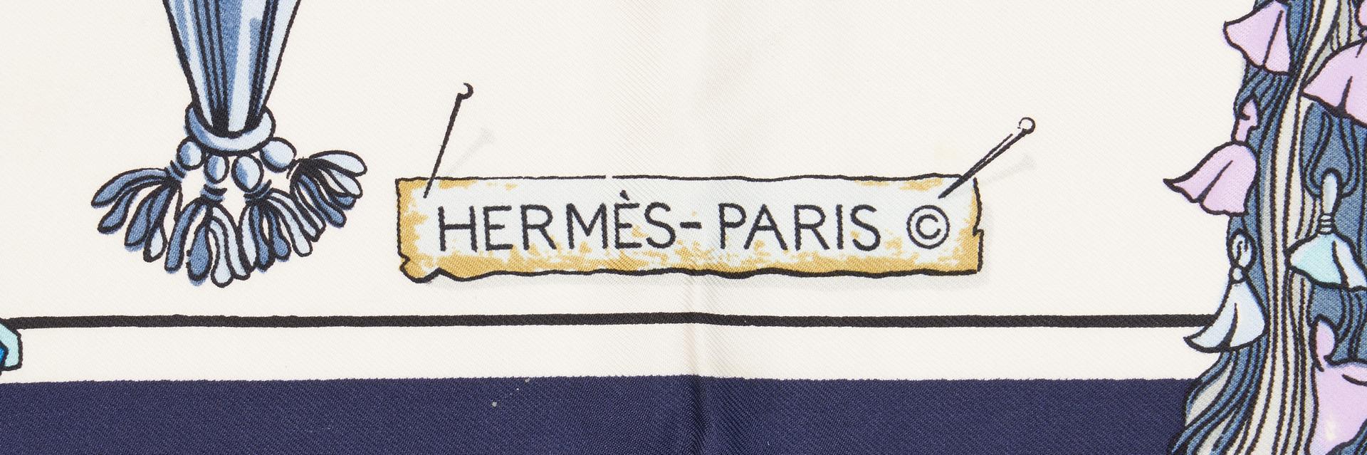 Lot 1025: 2 Hermes Scarves, incl. Regina & Passementerie