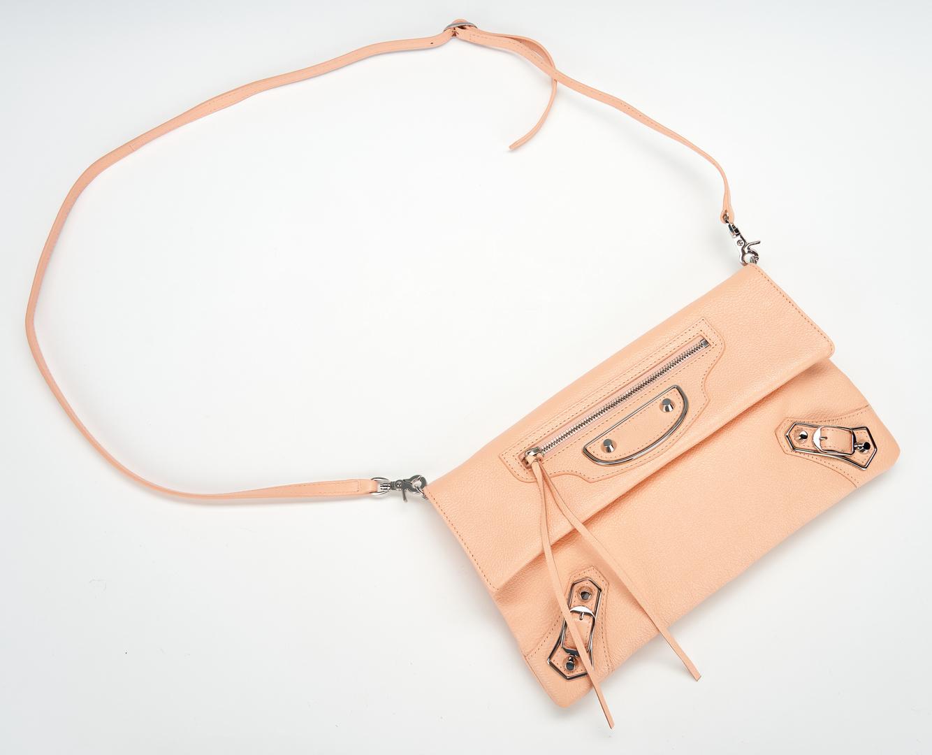 Lot 1030: Balenciaga Light Coral Envelope Crossbody Bag