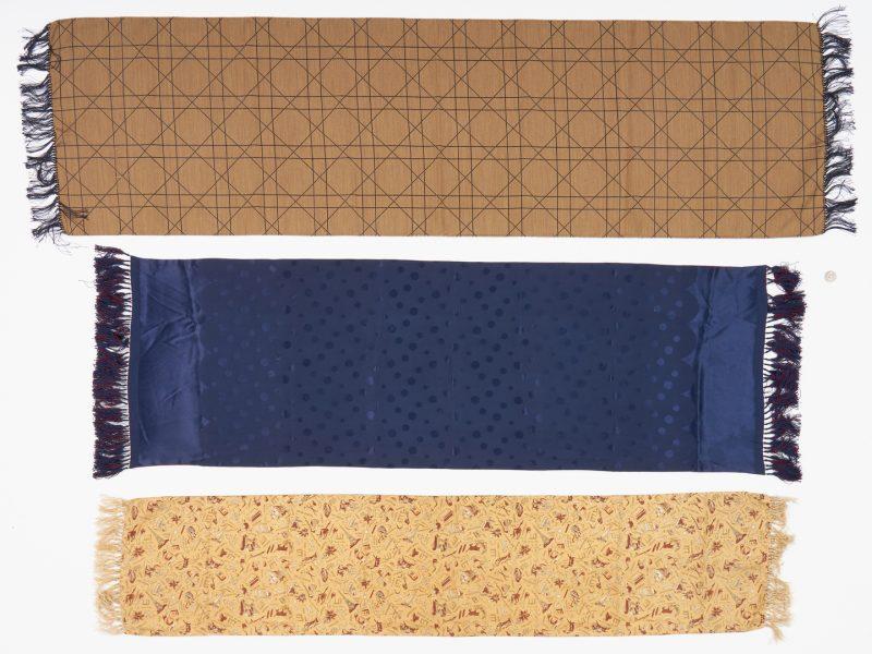 Lot 1032: 3 Silk Scarves, incl. Dior, A. Sulka, Dunhill