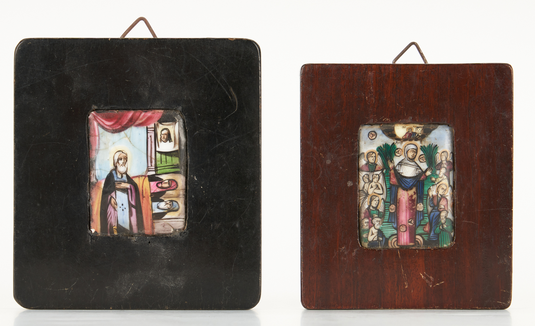 Lot 103: 5 Small Religious Paintings, incl. Icons