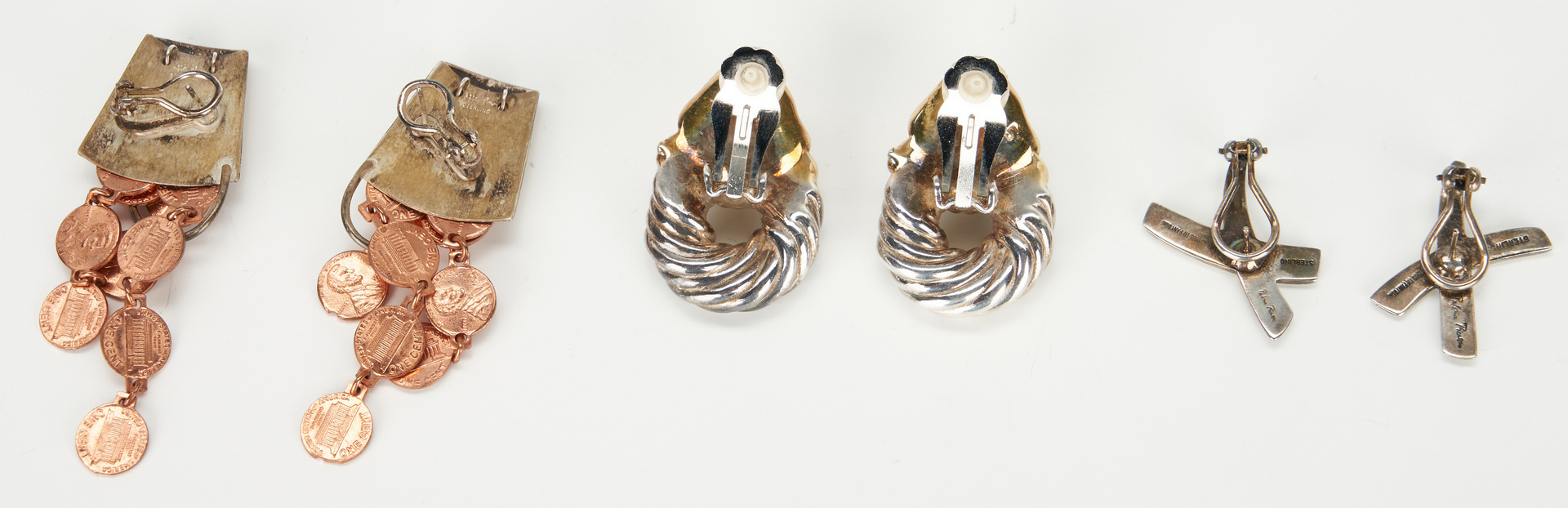 Lot 1042: Designer Sterling jewelry incl. Tiffany, 12 items