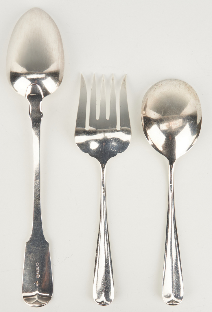 Lot 1045: 10 Sterling Serving Utensils inc. Stuffing Spoon