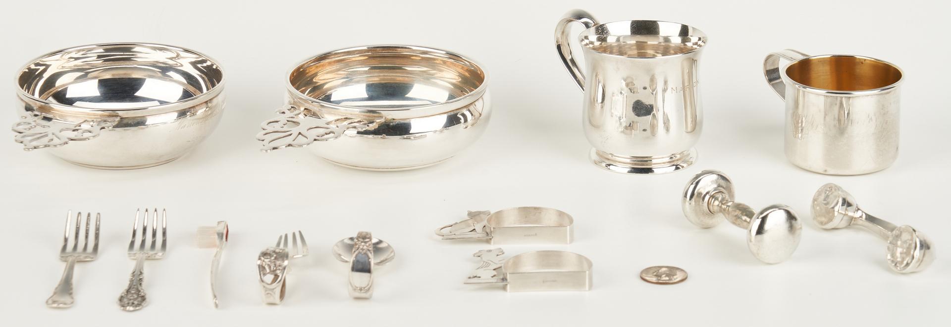 Lot 1048: 14 pieces Children's Silver
