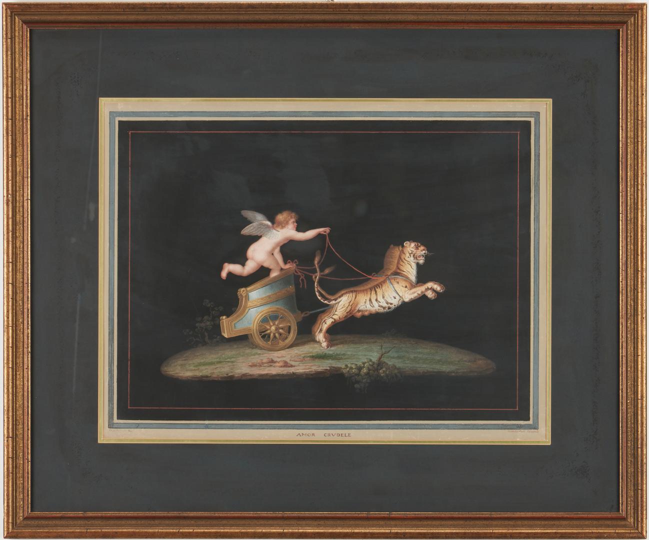 Lot 104: 4 Attr. Michelangelo Maestri, Classical Watercolors