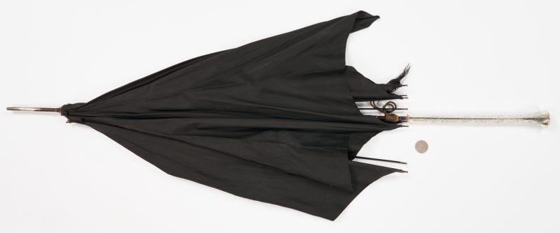 Lot 1054: Victorian Sterling Handled Umbrella, McGavock Family