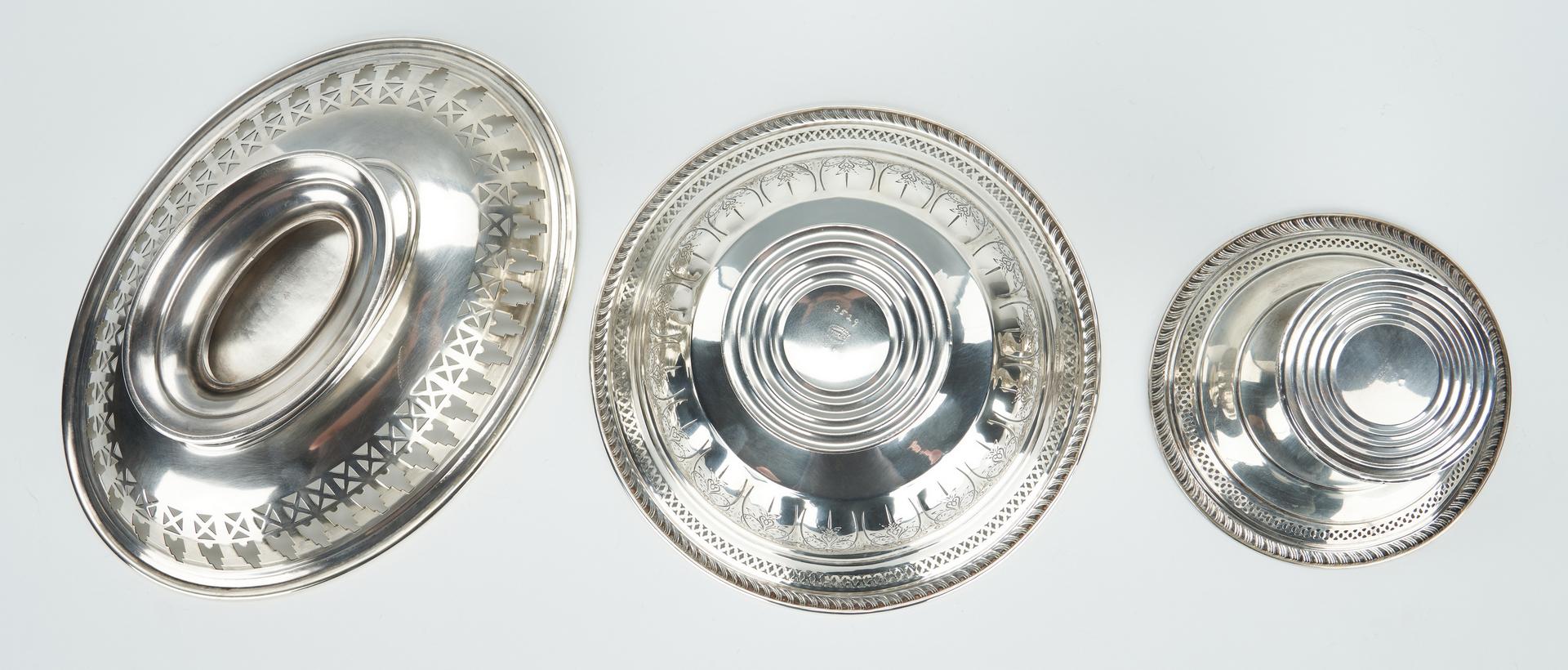 Lot 1055: 6 Hollowware Items, incl. Christofle Bowl