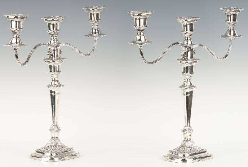Lot 1057: Pair Ellis Barker Neoclassical Style Candelabra