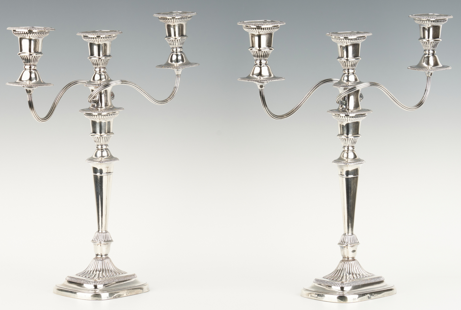 Lot 1057: Pair Ellis Barker Neoclassical Style Candelabra