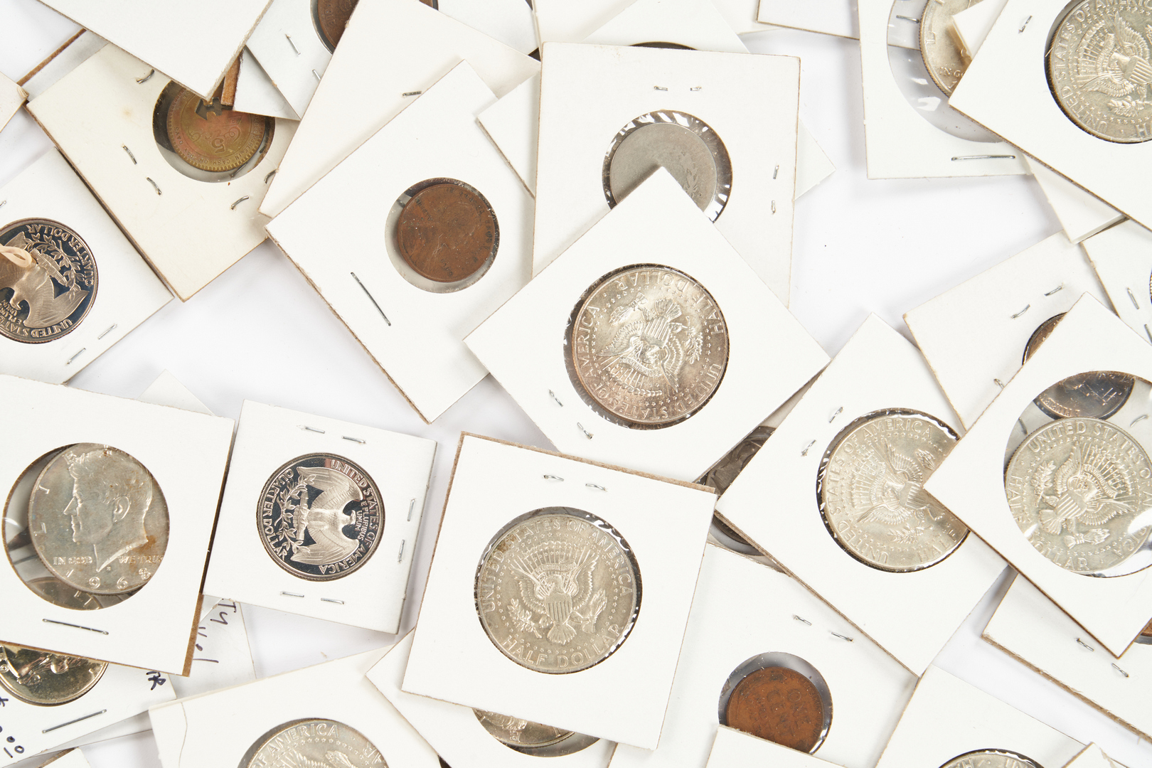 Lot 1062: 186 US Coin Items, incl. 92 90% Silver Coins