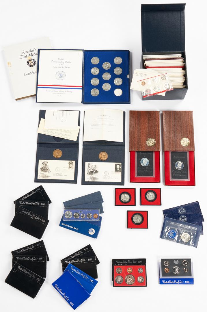 Lot 1063: Asst. U.S. Mint Proof Sets, Medals, & More