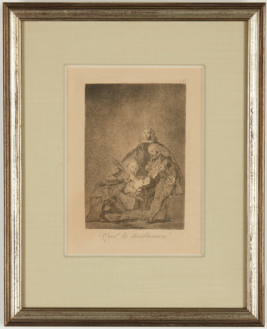 Lot 107: 3 Etchings After Rembrandt and Goya