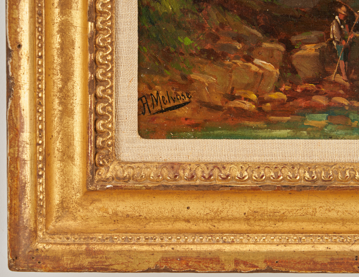 Lot 112: 2 Scottish Landcapes by Andrew Melrose incl. Bothwell Castle