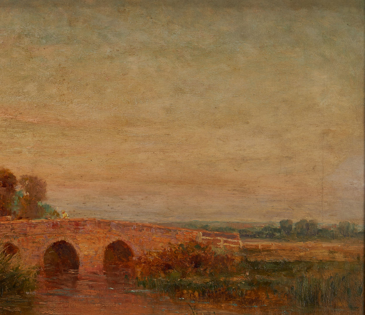 Lot 116: Ernest Walbourn O/C, English Landscape with Figure and Ducks
