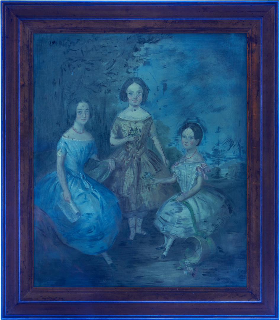 Lot 117: English School Portrait of 3 Girls