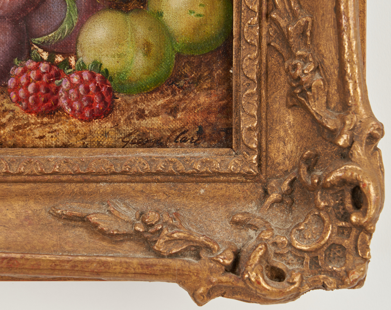 Lot 118: 3 English O/C Still Life Paintings, G. Clare
