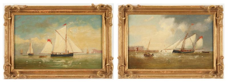 Lot 124: Pair William D. Penny Maritime Oil Paintings