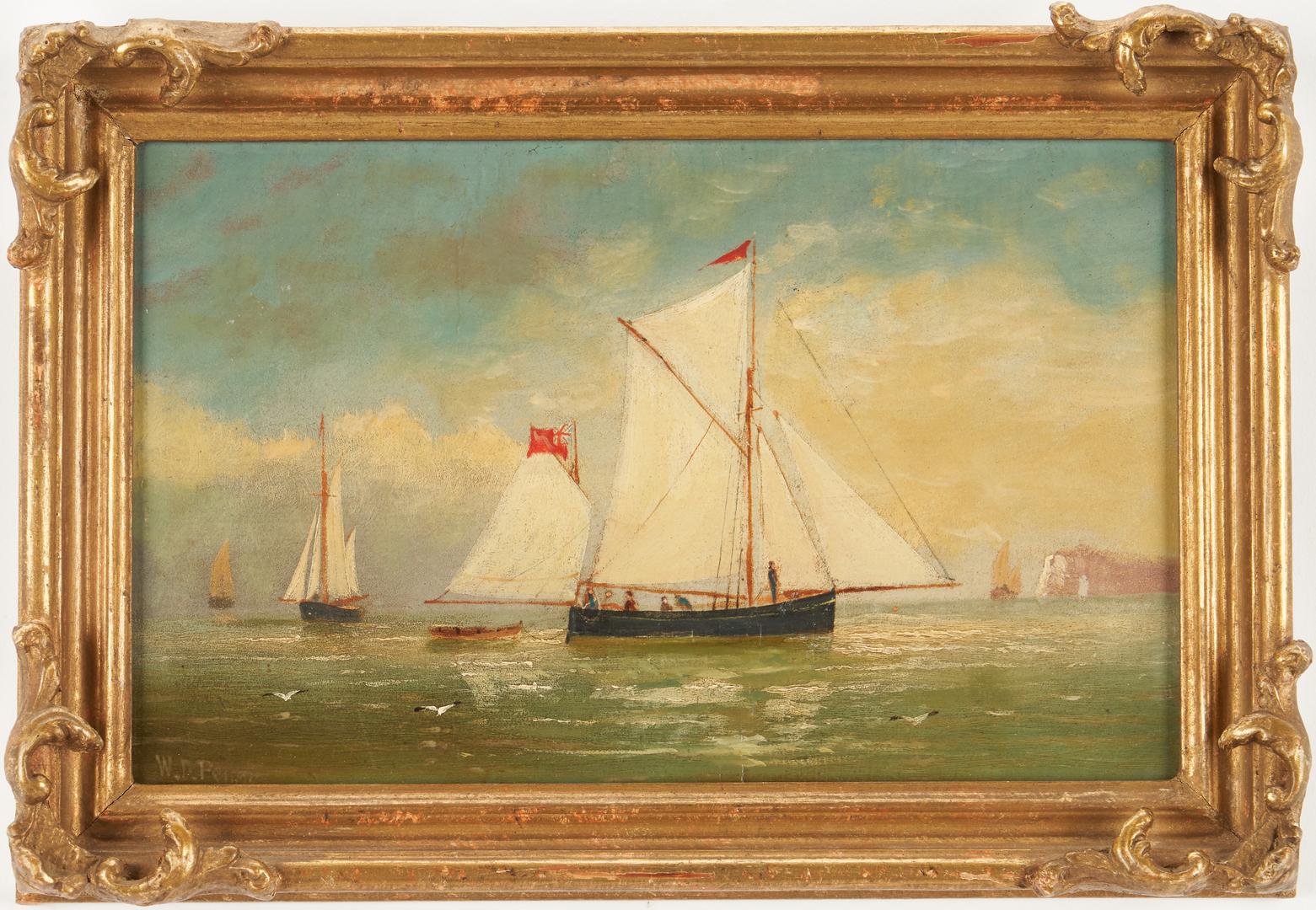Lot 124: Pair William D. Penny Maritime Oil Paintings