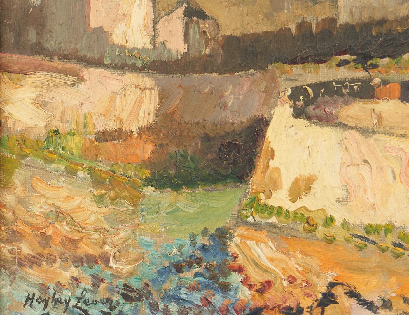 Lot 132: Hayley Lever O/C Impressionist Landscape, Seine River