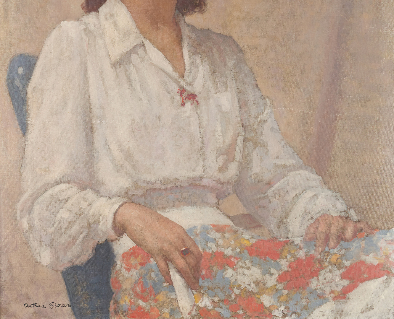 Lot 133: Arthur Spear O/C Painting, Portrait of Ruth Norton White