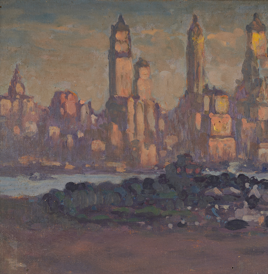 Lot 134: Henry Van Notti O/B, NYC Skyline