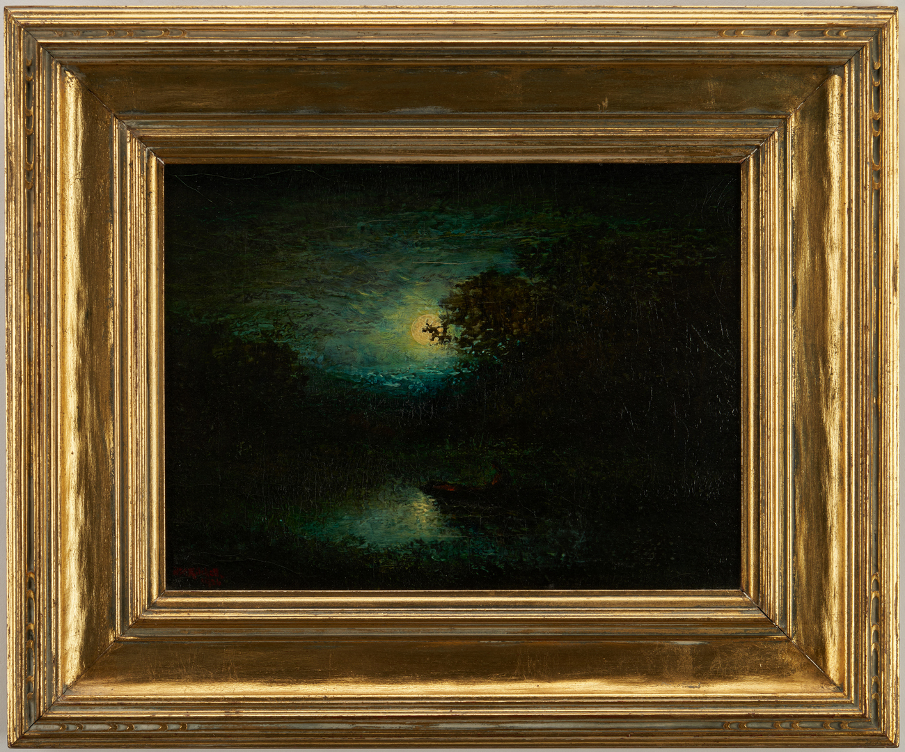 Lot 137: Hudson Kitchell, 2 Nocturnal Oil Landscapes
