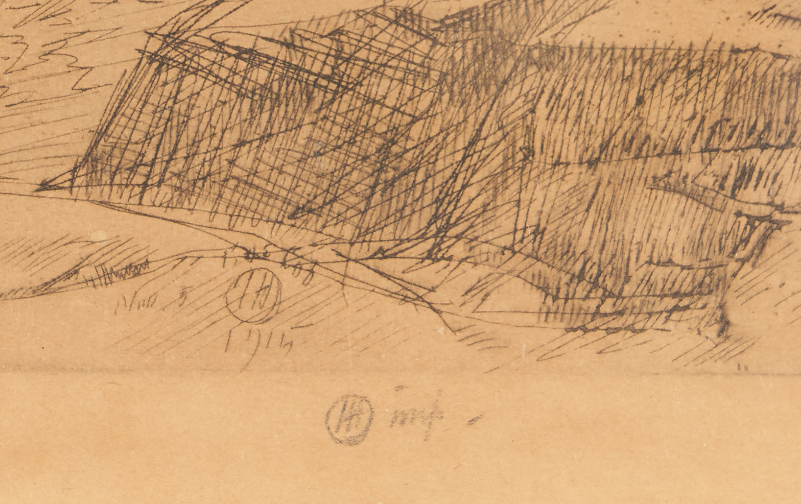 Lot 139: Pencil Signed Childe Hassam Etching, Old Lace