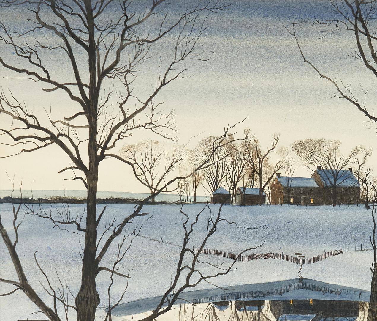 Lot 142: John Chumley Winter Landscape Watercolor