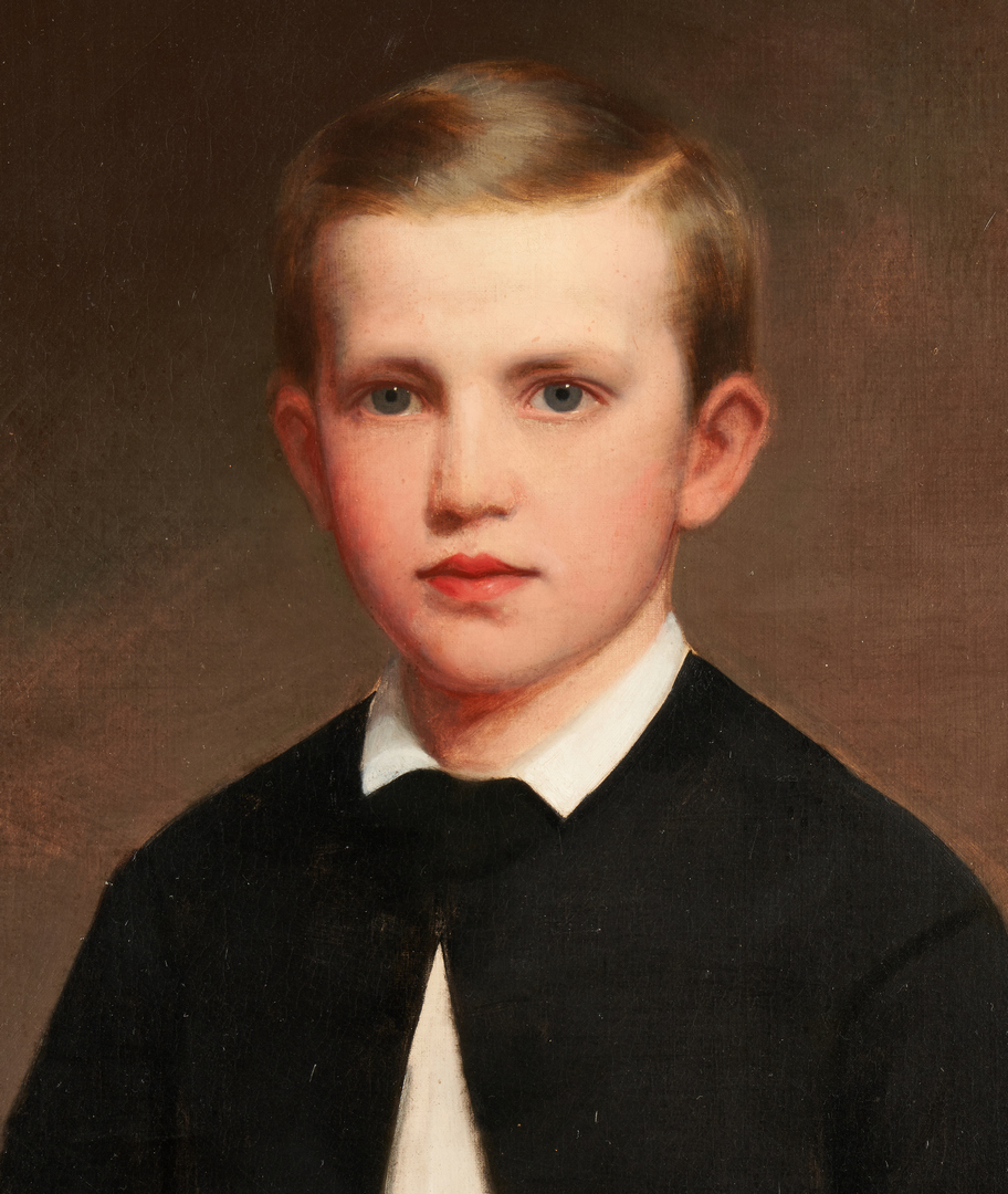 Lot 143: Washington Cooper, Nashville portrait of young William Robinson Cornelius, Jr.