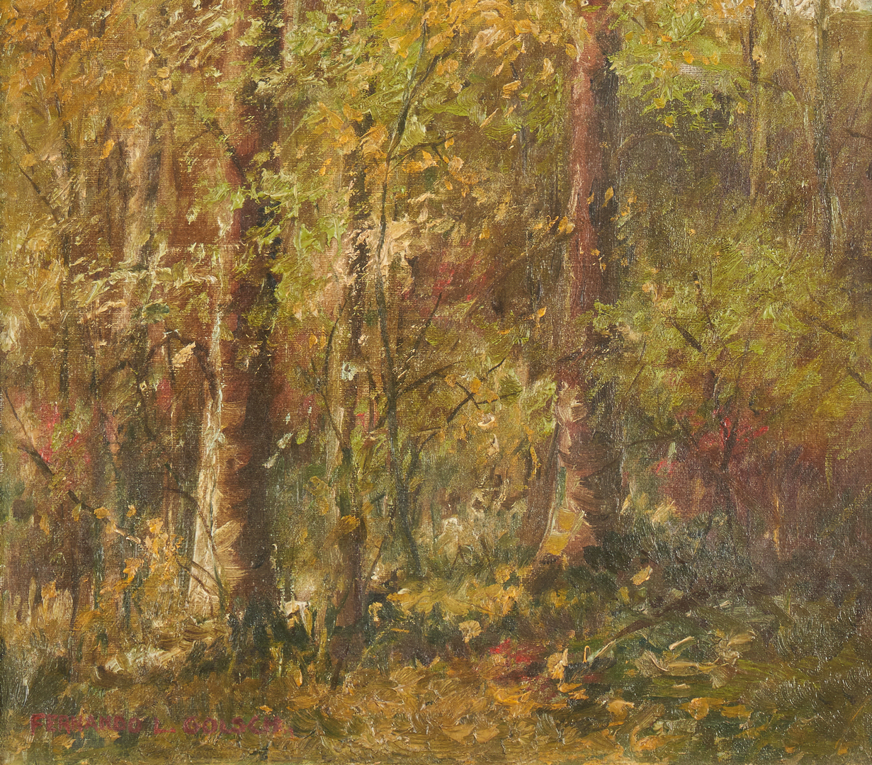 Lot 145: Pair Fernando Golsch Landscapes, poss. KY