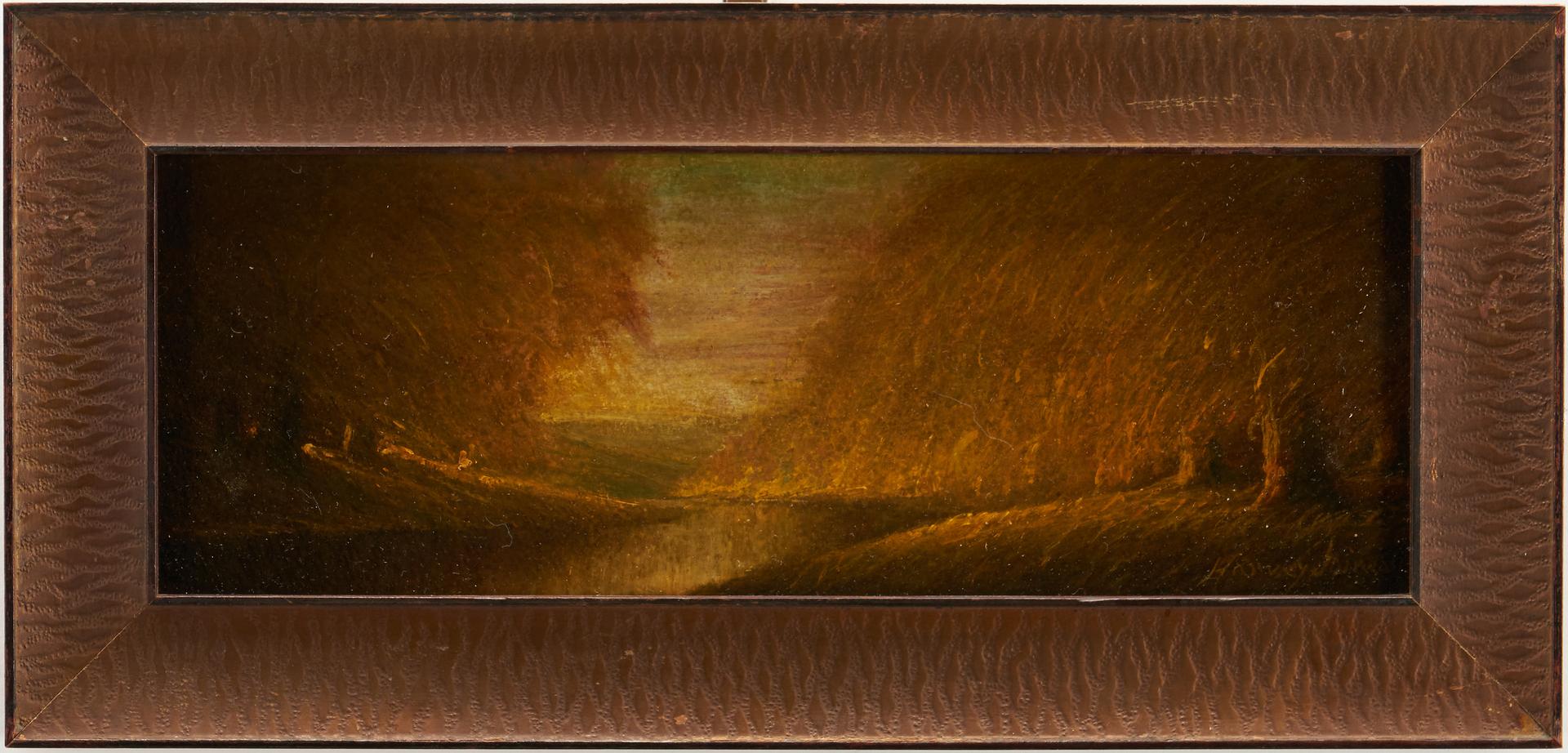 Lot 147: Small Harvey Joiner Oil on Board Fall Landscape