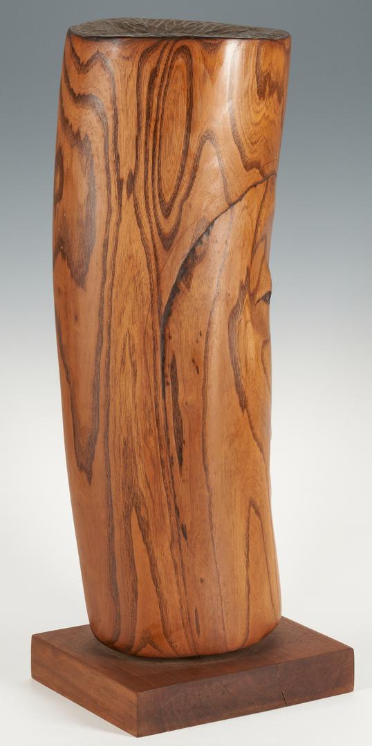 Lot 149: Olen Bryant Walnut Sculpture of a Head