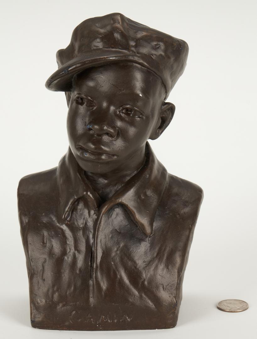 "Lot 151: Augusta Savage Plaster Sculpture, ""Gamin"""