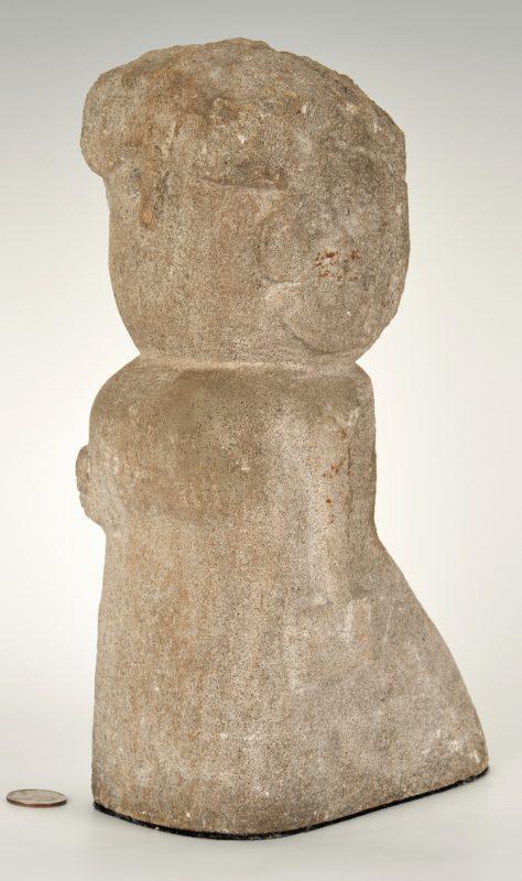 Lot 152: William Edmondson Sculpture, Lady With A Book