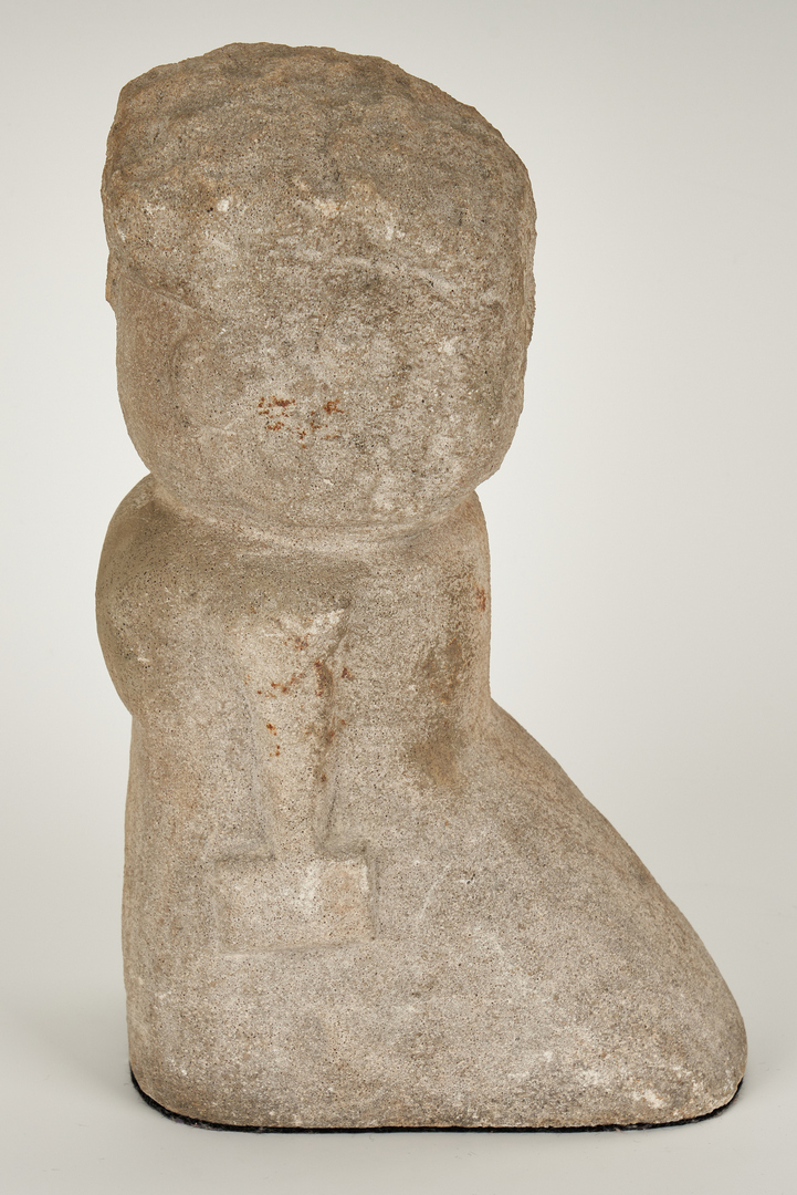 Lot 152: William Edmondson Sculpture, Lady With A Book