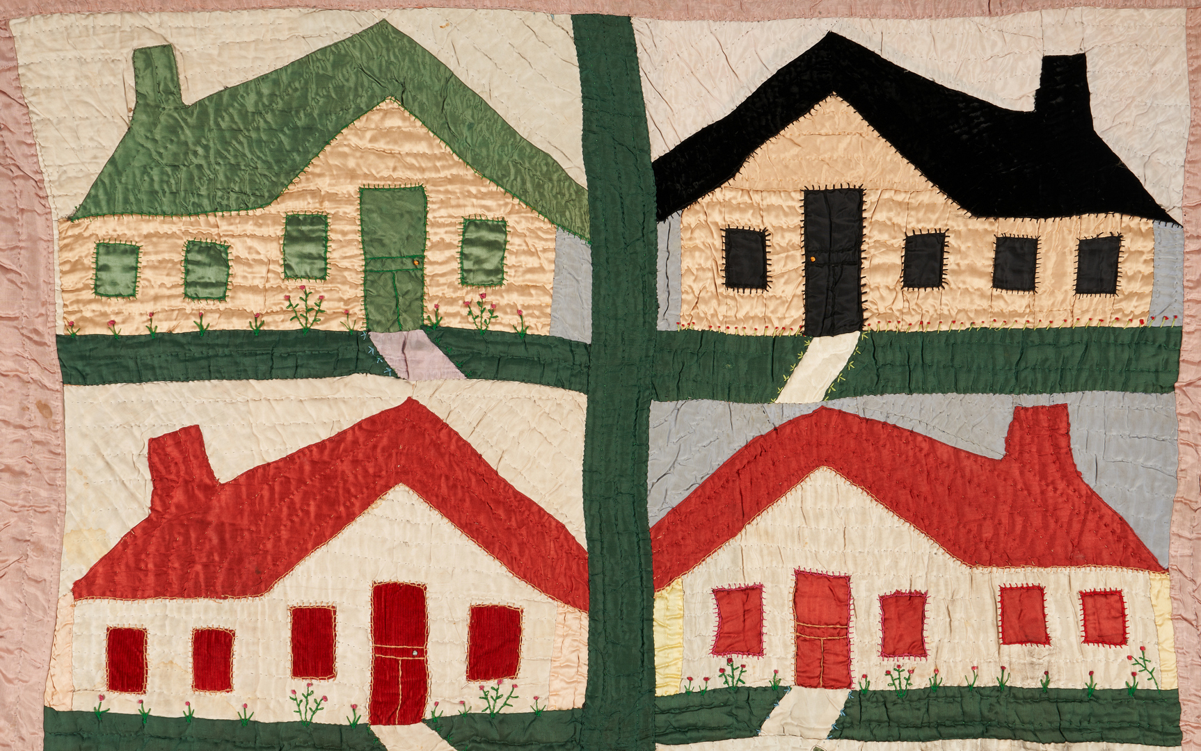 Lot 155: Exhibited African-American Schoolhouse Quilt