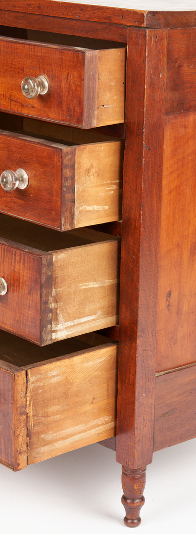 Lot 156: Southern Tiger Maple and Walnut Miniature Chest