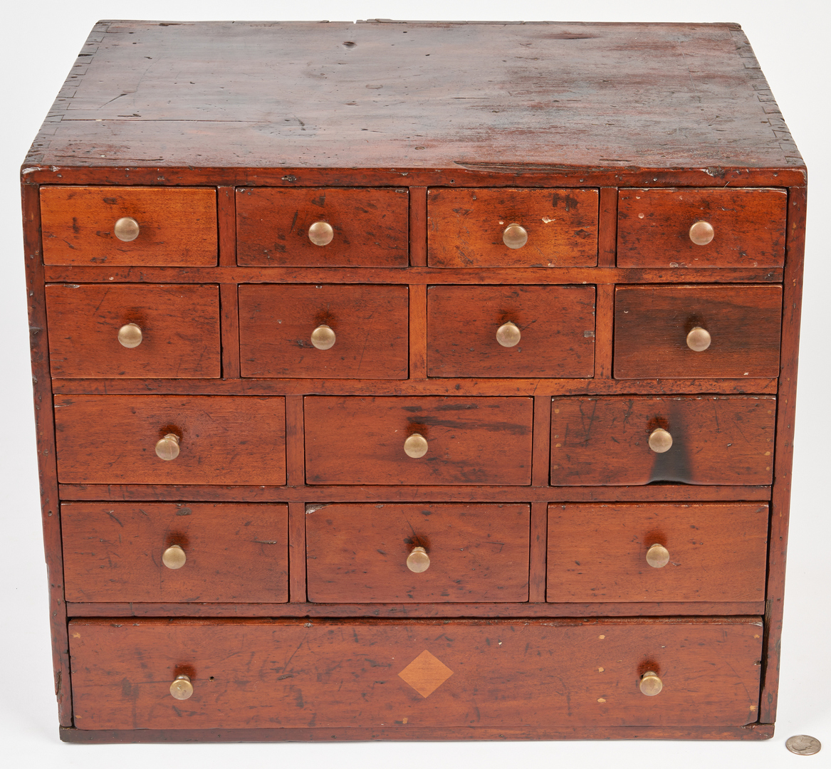 Lot 158: Apothecary Chest and NC Hepplewhite Stand