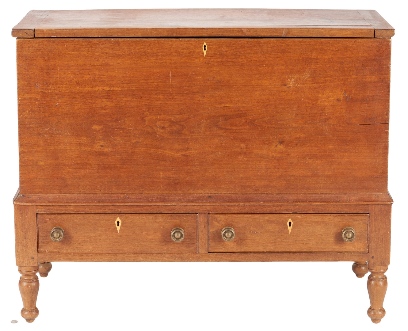 Lot 165: Middle TN Sheraton Walnut Blanket Chest